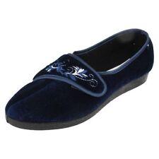 Sandalias y chanclas de mujer azul textiles