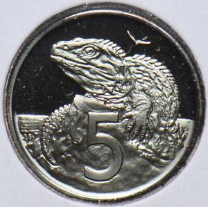 New Zealand 1974 5 Cents Tuatara animal 902559 combine shipping