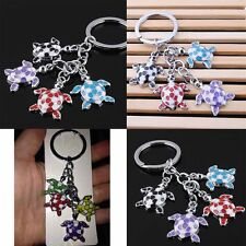 Charm Cute Sea  Turtle Colorful Car Key Ring Keyfob Metal Keychain