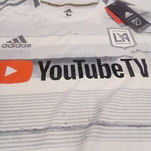 ADIDAS Los Angeles FC LAFC YouTube 2019 Away Jersey MLS white S,M,L,XXL