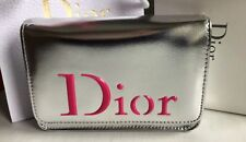 SILVER DIOR POUCH CLUTCH MAKE UP BAG PURSE  NEW BOXED PLUS MISS EDP DIOR SAMPLE