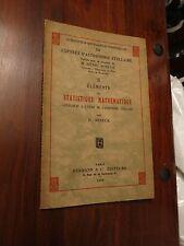 Elements de Statistique Mathematique - Henri Mineur 1934 edition - d'Astronomie