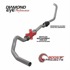"Diamond Eye 4"" Turbo Back Single Exhaust System No Muffler K4334A-RP"