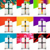 Color Luggage Strap Cross Belt Adjustable Suitcase Belt Travel Bag Accessories