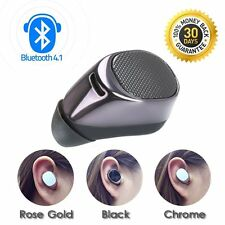 Compact Mini Wireless Bluetooth STEREO In-Ear Earphone Headphone Headset Black