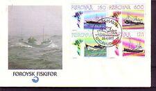 Danimarca-Faeroer Michel numero 24 - 27 UFFICIALE FDC