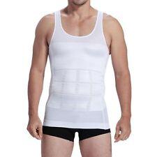 Mens T-Shirt Waist Cincher Undershirt Vest Body Shaper Trainer Tank Top Gym RW