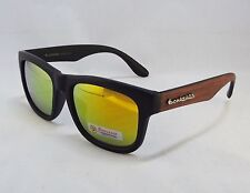 BioHazard Optics Sunglasses BLACK with PURPLE Wood Grain Design Unisex Men New