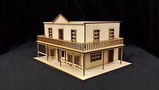 Model O Scale Hotel Building unfinished kit wood train railroad