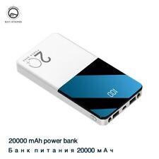 Power Bank 20000mAh Portable Charging Powerbank Mobile Phone External Battery