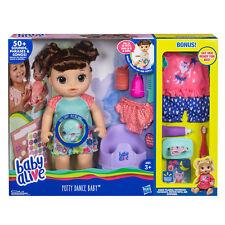 Baby Alive Potty Dance Doll Exclusive BROWN HAIR HISPANIC LATINA SPEAKS SPANISH