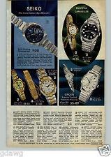 1972 PAPER AD Watch Seiko Bulova Gruen Timex Chronograph Bracelet Sport Lady