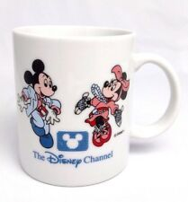 """VTG """"The Disney Channel"""" TV Show Promo Advertising MICKEY MOUSE & MINNIE Mug Cup"""