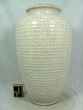 50´s WGP design Silberdistel pottery Keramik vase  crackle glaze  54 / 32