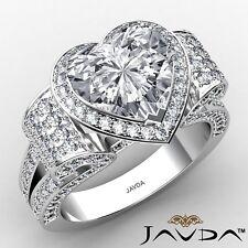 4.64ctw Aniversario Corazón Anillo de Compromiso Diamante GIA F-VVS2 Platino