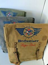 Buxton Budweiser Slim Backpack Accessory Bag w/laptop compartment w/TAGS NEW!
