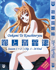 DVD ANIME OOKAMI To KOUSHINRYOU Sea 1~2 Vol.1-26 End ENGLISH AUDIO + FREE DVD