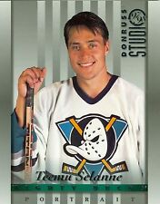 Teemu Selanne 1997-98 Donruss Studio Portrait Anaheim Mighty Ducks #18 NM 8x10