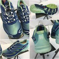 Salomon Sensemantra 3 Running Shoes Sz 10 Women Blue India Mint YGI H8S-12