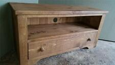 REAL SOLID WOODEN CHUNKY RUSTIC PLANK PINE tv stand cabinet entertainment unit