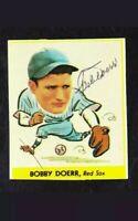 1933 GOUDEY REPRINT #258 BOBBY DOERR BOSTON RED SOX HALL OF FAMER AUTOGRAPHED