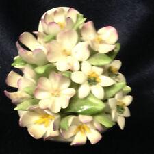 """ROYAL DOULTON FLORALS FLOWER ARRANGEMENT 2 7/8"""" BOUQUET IN WHITE CUP OR BOWL"""