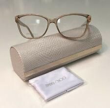 Jimmy Choo JC238 FWM Transparent Pink w Crystal Logo Glasses RX Eyeglasses Frame