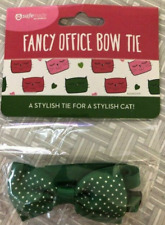 SAFE MADE PET PRODUCTS Fancy Green Polka-Dot Bow Tie for Cats (NEW)