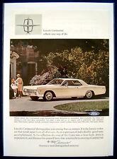 Werbeanzeige Ad Lincoln 1966 Continental   (USA)