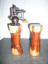 Hand Crafted Wooden Salt & Pepper Grinder & Shaker Set