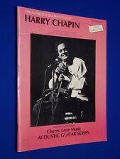 1988 Harry Chapin Authentic Style Guitar Tablature Vocal Sheet Music Songbook