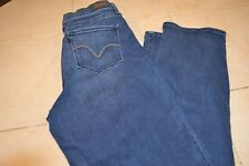 WOMENS LEVIS 512 PERFECTLY SHAPING STRAIGHT LEG STRETCH JEANS SIZE 14M
