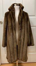 Women's Brown Faux Fur Teddy Coat Jack. Size M. Ship Free!