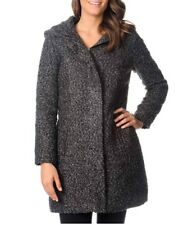 Excelled oversized Hood Boucle Jacket Women's size XL Black / White