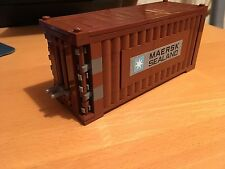 LEGO MAERSK LINE TRAIN SHIP SHIPPING CONTAINER REDDISH BROWN