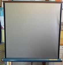 VINTAGE DA-LITE SILVER LITE 40 X 40 MOVIE AND SLIDE PROJECTION SCREEN TRIPOD