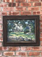 C1930 American Impressiont Painting By Bernard Green. Nantucket Or Rockport
