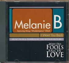 Melanie B I Want You Back RARE promo DJ CD single '98 (never played)
