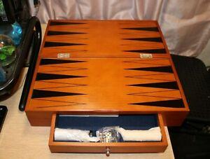 Michael Graves Design Backgammon with Hardwood Case 2002 Hasbro