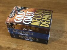 NEW Nelson DeMille Fiction Book Collection - Gold Coast, Plum Island, Night Fall