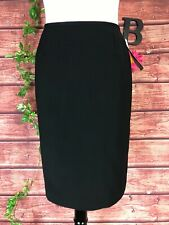 Le Suit Collections Skirt size 10 Petite Black Classic Basics Knee Career Slim
