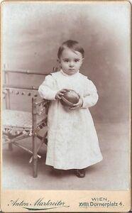 CDV photo Niedliches kleines Kind - Wien 1900er