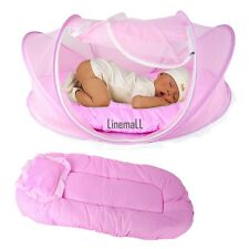 Baby Infant Bed Mosquito Net Cotton-padded Mattress Pillow Tent Foldable LM