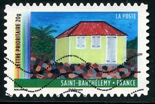 TIMBRE FRANCE AUTOADHESIF OBLITERE N° 645 / ANNEE DES OUTRE MER SAINT BARTHELEMY