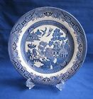 """Churchill Blue Willow Dinner Plate 10 1/4"""" Made in England Staffordshire LikeNew"""