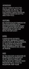 Radiator Warning label - Triumph 2000/2500