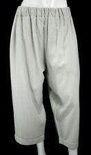 CASEY CASEY Cloud Gray Wool Elastic Drawstring Waist Wide Leg Pants S