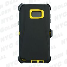 For Samsung Galaxy Note 5 Case Holster (Clip Fits Otterbox Defender) BLACK YELLO