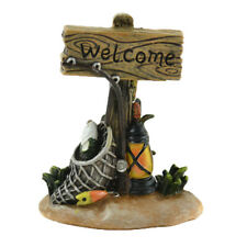 Miniature Dollhouse Fairy Garden - Fishing Welcome Sign - Accessories
