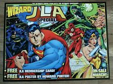 Wizard JLA Special 1996 Howard Porter Flash Aquaman Wonder Woman DC PROMO Poster